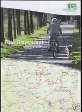 Touristenkarte, Elbe-Elster-Land, Radwegeübersicht, um 2000