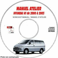 H1 00-03 - Manuel Atelier CDROM HYUNDAI Anglais Expédition - --, Support - CD-R