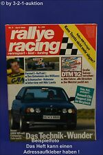 Rallye Racing 4/92 BMW M5 Renault Alpine A 110 Volvo