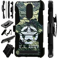 Luxguard For MicroMax T55 Phone Case Holster Stand Cover  US ARMY CROSSHATCH