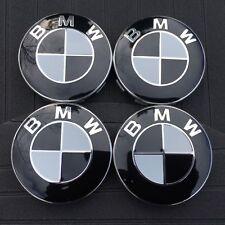 1 Satz BMW Nabenkappen Felgendeckel Nabendeckel 68mm Schwarz