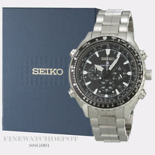 Authentic Seiko Men's Prospex Radio Sync Solar Chronograph Watch SSG001