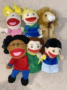 lot of 6 puppets play preschool kindergarten pretend play