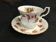 Royal Albert From Sea to Sea Tea Cup & Saucer Set Canada Maple Leaf & Flag