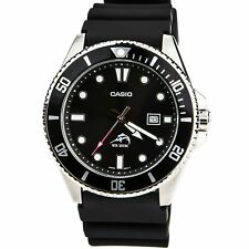 Casio Men's Watch Sports Black Dial Black Resin Strap Dive MDV106-1A