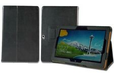 Luvtab Black Acer Iconia W510 Tablet 10.1 Inch Faux Leather Stand Genius Case