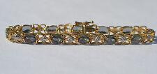 Nuevo 10 Quilates Oro Amarillo Místico Topacio y Diamante Pulsera 18.1cm