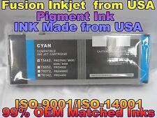 Cartridges fit Epson Stylus Pro 4000 4400 7600 9600 Cyan Pigment Ink c T5442 sd