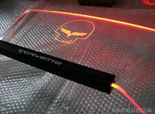 New Windscreen Wind Deflecto for Chevrolet Corvette JAKE SKULL DESIGN RED light
