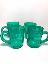 Irish Drinking Beer Mugs ~Plastic Green~ Shamrock~ St Patricks Day ~Set Of 9