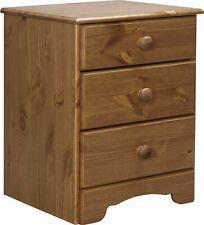 Nordic 3 Drawer Bedside Cabinet - Pine