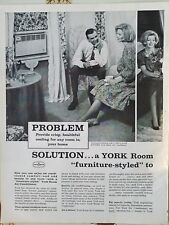 1963 York air conditioning Refrigeration couple cool typical bedroom ad