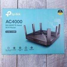 TP Link AC4000 MU-MIMO Tri-Band 4 Port WiFi Router Archer C4000 Black