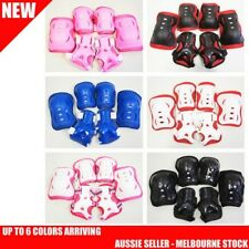 6PCS Kid Roller Ski/Cycling Protective Gear Pad KNEE/ELBOW/WRIST Safety Guard
