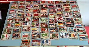 FLAGS OF THE WORLD  A& BC cards 5 cards missing 13,49,54,73,80.Printed inEngland