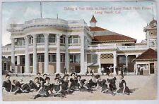1912 LONG BEACH CA BATH HOUSE & WOMEN IN SWIMSUITS OLD POSTCARD PC2706
