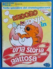 ISIDORO & SONJA UNA STORIA GATTOSA - STICKER ALBUM CON 8 FIGURINE - ED. BLU 1985