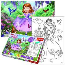 TREFL 20 PIECE COULEUR amusant enfants disney princesse sofia filles PUZZLE NEUF