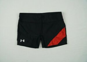 Under Armour Compression Shorts Women's Black/Red Poly NEW Multiple Sizes