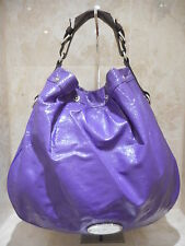 Mulberry Net A Porter Mitzy Purple Tote Patent Leather Extra Large + Serial No