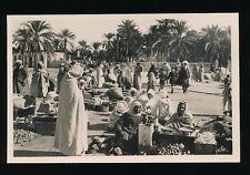 Scenes et Types MARCHE ARABE Arab Market c1930/50s? RP PPC