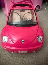 Mattel 2000 Barbie Pink Volkswagen Vw Beetle w/ Working doors & Trunk and flower