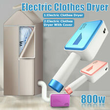 800W Portable Electric Clothes Dryer Travel Laundry Shoes Drying Tube with Cover