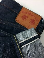 Full Count & Co JAPANESE Selvedge Zimbabwe Cotton Denim Button Fly Jeans 28x34