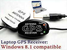 Laptop GPS Receiver+ external Antenna 4 Vehicle Yacht Boater chartplotter map E8