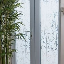 1.5m X 45cm ALKOR WHITE BAMBOO FROSTED PRIVACY GLASS WINDOW STATIC CLING VINYL
