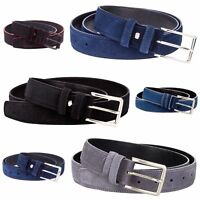 "Suede Leather Belt Mens belts 100% Italian leather Nubuck Dress Golf Sz 30-46"""
