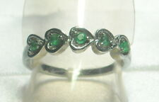 .14 ct Natural Emerald Ring Stainless Steel Size 8
