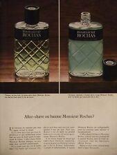 PUBLICITÉ 1972 MONSIEUR ROCHAS AFTER-SHAVE OU BAUME - ADVERTISING