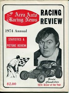 Area Auto Racing News 1974-pictorial format-Gerald Chamberlin-USAC-Beavers-FN
