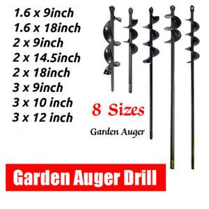 Planting Auger Spiral Hole Drill Bit Garden Yard Earth Planter Digger