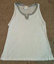 Alison Joy Women's tank top dress w/ uneven hem, Sz. SM, Blue & Gray Tie dye