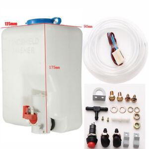 12V universal windshield 1.8L washer tank pump bottle kit professional cleaning