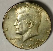 1969-D 50C Kennedy Half Dollar UNC 40% Silver out-6 50 Cents Shipping