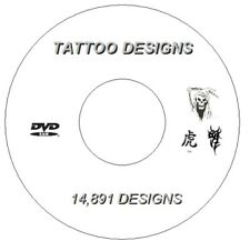 Over 4.34gb DVD 14 891 Flash Designs & Tattoo Books Tribal Chinese Demons