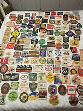 More details for job lot 150 vintage beer mats including sets. 1970's onwards.