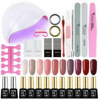 Gel Nail Polish Kit wiht UV LED Nail Lamp Xmas Gift Starter Manicure Set 10PC Ge