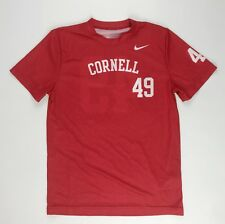 New Nike Cornell University Big Red Lacrosse Team Jersey Boy's M Red Shirt