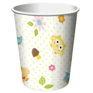 Happi Tree Owl Woodland Animals Cute Baby Shower Party 9 oz. Paper Cups