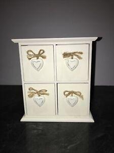 Wooden Heart Drawers / Trinkets / Jewellery