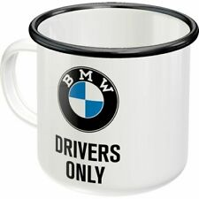 Emaille-Becher, BMW Drivers Only, Retro, Kaffeepott,