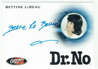 James Bond Heroes & Villains Autograph Card A156 Bettine LeBeau Dent's Secretary