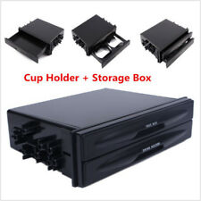 Universal Car auto Double Din Radio Pocket Kit + Drink Cup Holder+Storage Box