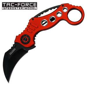 Tac-Force Karambit Style Spring Assisted Rescue Tactical Pocket Knife TF-578RD