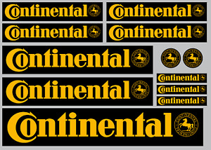 CONTINENTAL STICKER SET - SHEET OF 12 STICKERS - DECALS - Motorcycling