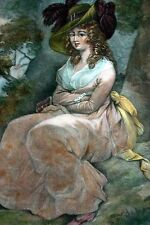 "Hand Colored Engraving ""Waiting for Love"" by: William Ward after George Morland"